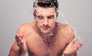 Men's oily skin